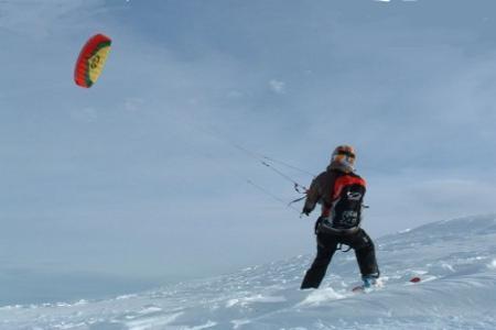 Dove praticare snowkite in Veneto